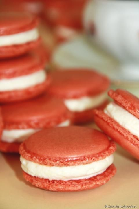 Pfirsichmacarons