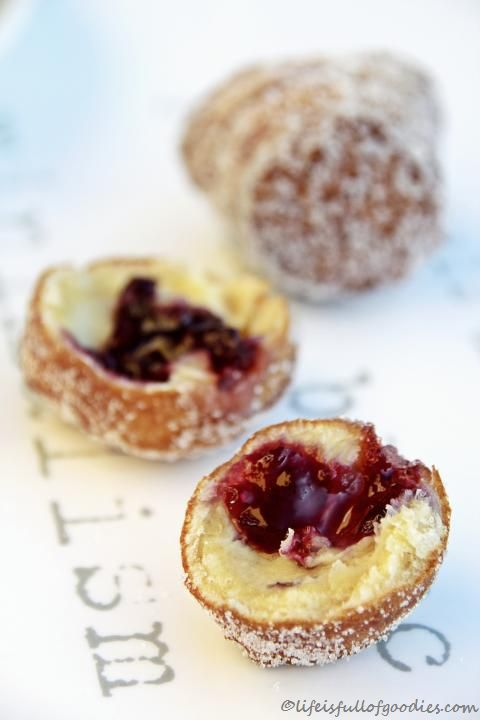Fruity Filled Crout Balls