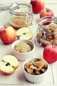 Apfelmus und Apfelkompott