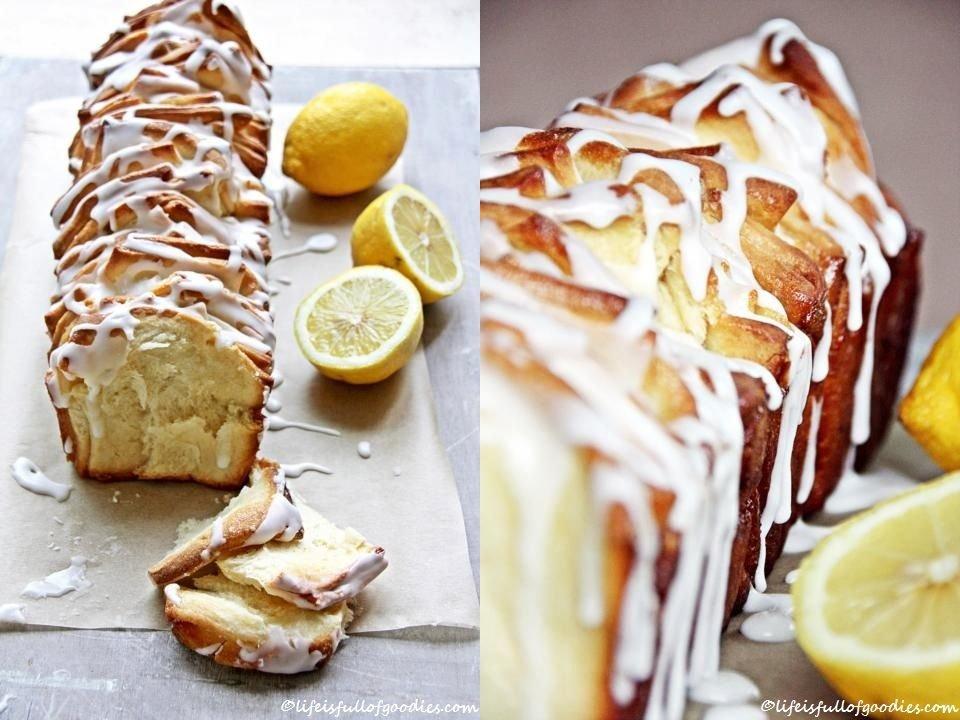 Lemon Pull Apart Cake