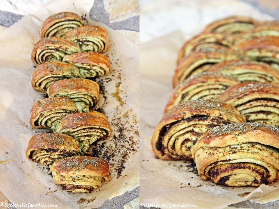 Pesto-Schnecken-Zopf