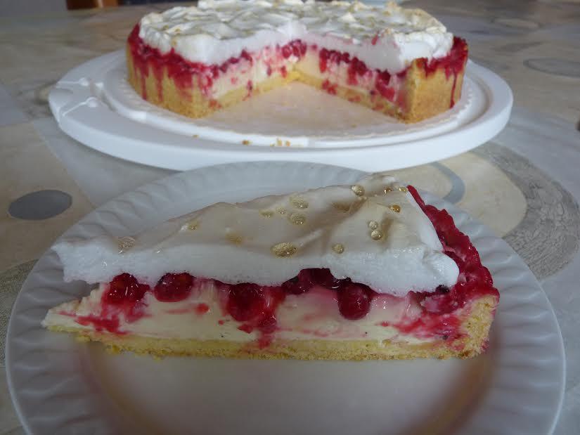 Zitronige Tränchen-Torte mit Johannisbeeren von Kerstin Schraut
