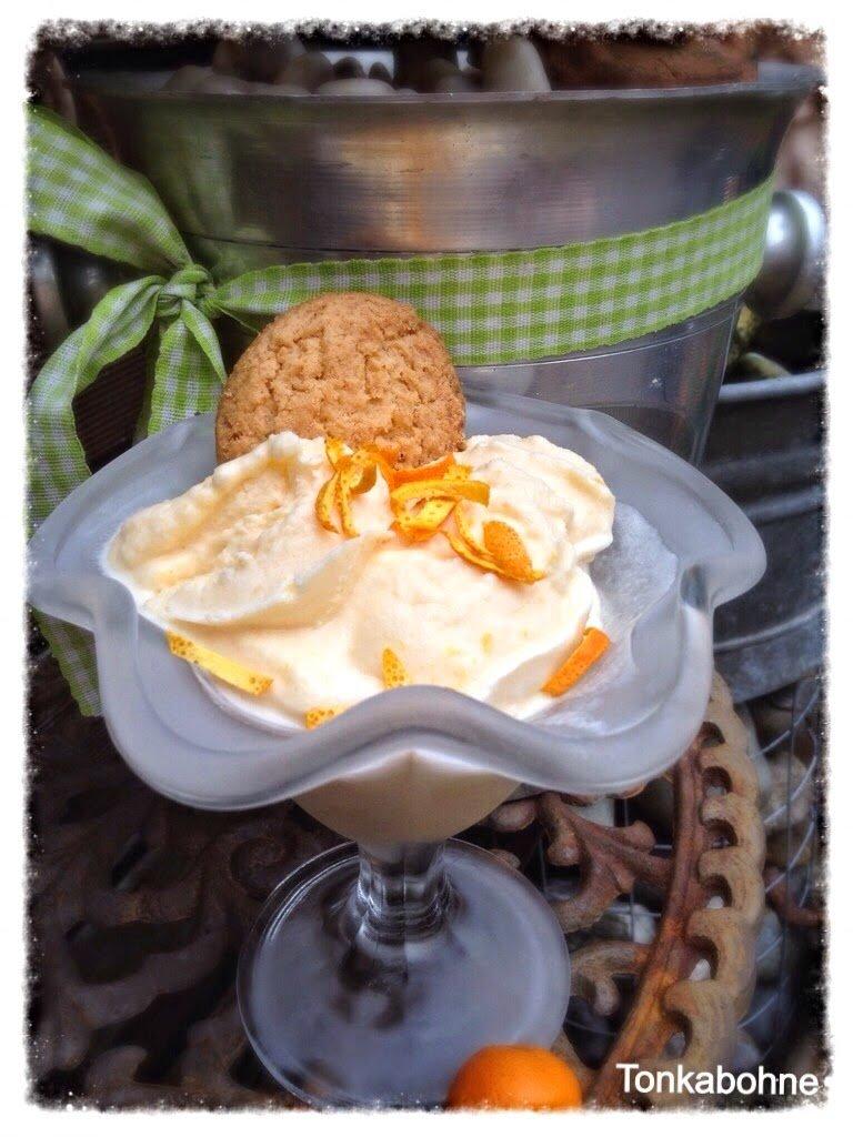 Orangen-Sauerrahm-Eis von Tonkabohne