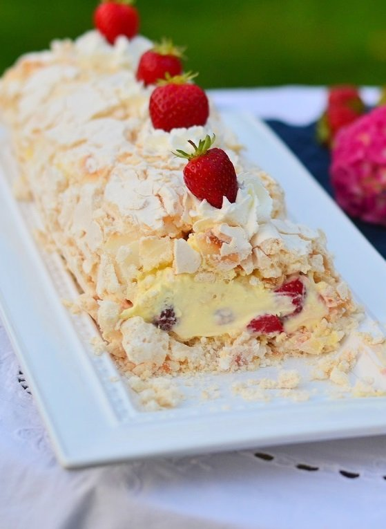 Coconut Meringue Roulade