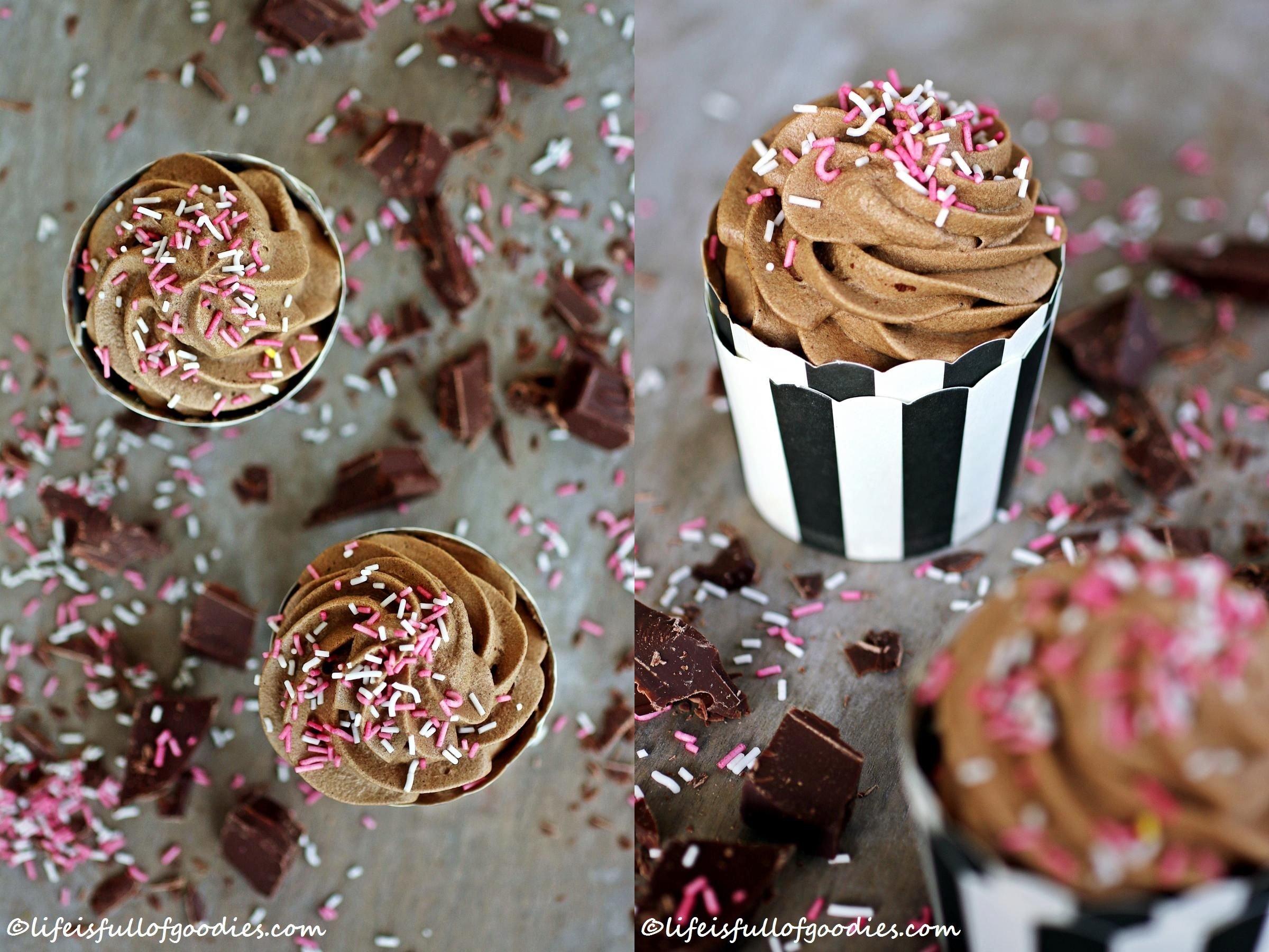 Einfache Schoki Cupcakes