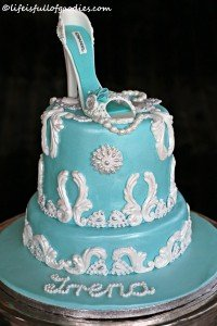 Mint High Heel Cake