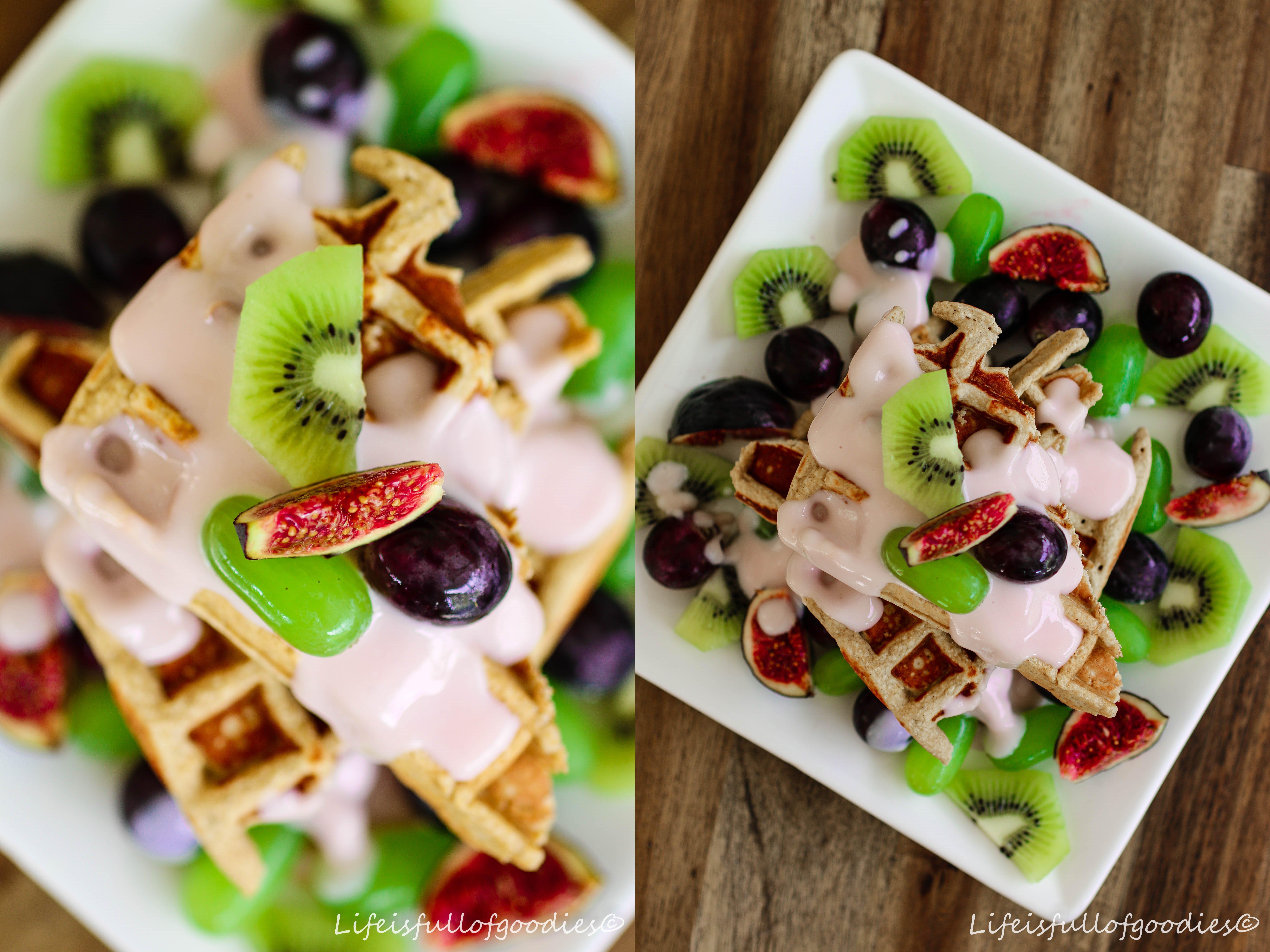 Protein-Waffeln mit Joghurt