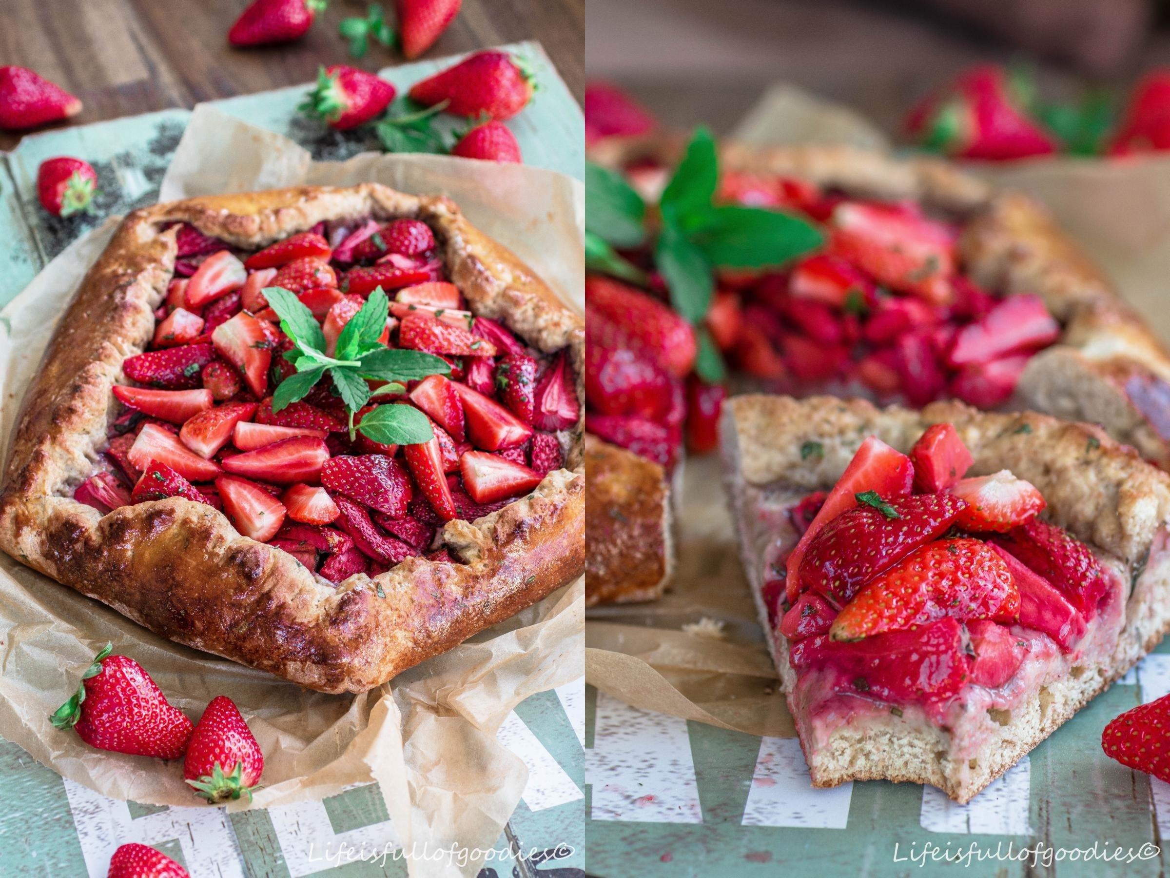 Erdbeer Galette aus Dinkel-Vollkornmehl