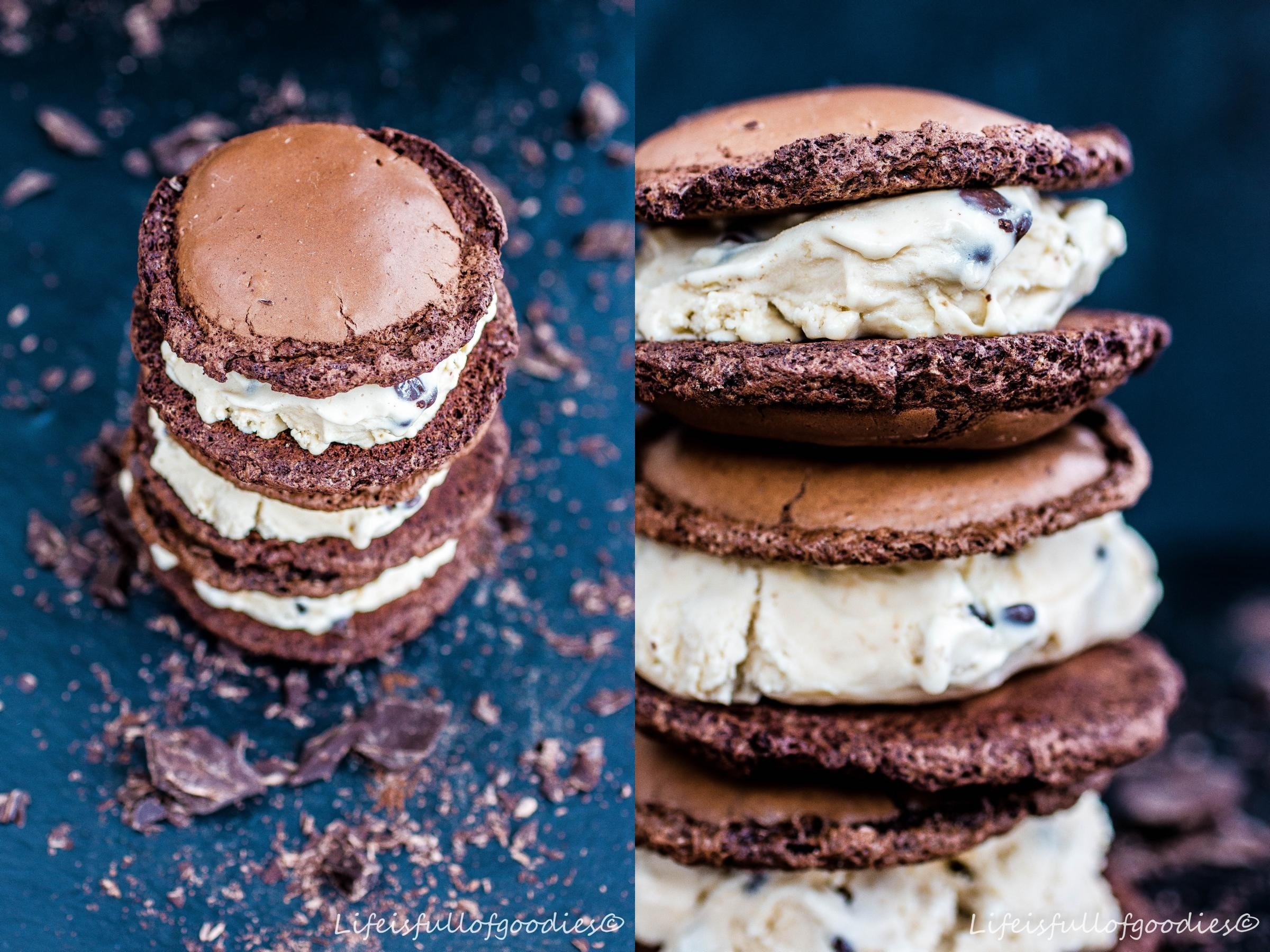 Banana Chocolate Ice Cream Sandwich
