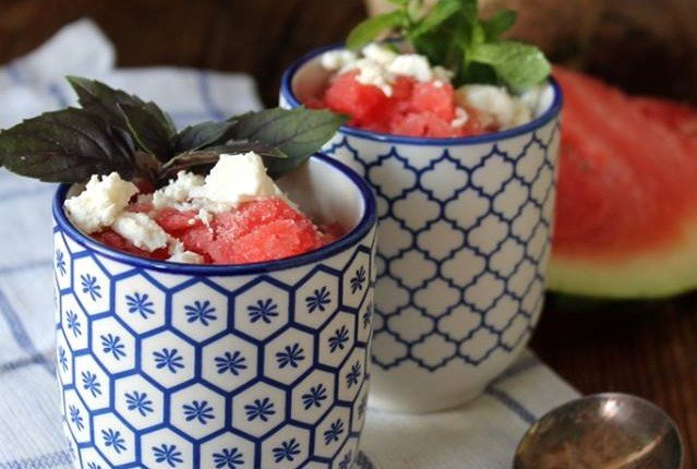 "Melonen-Buttermilch-Granita von ""Thank you for eating"""