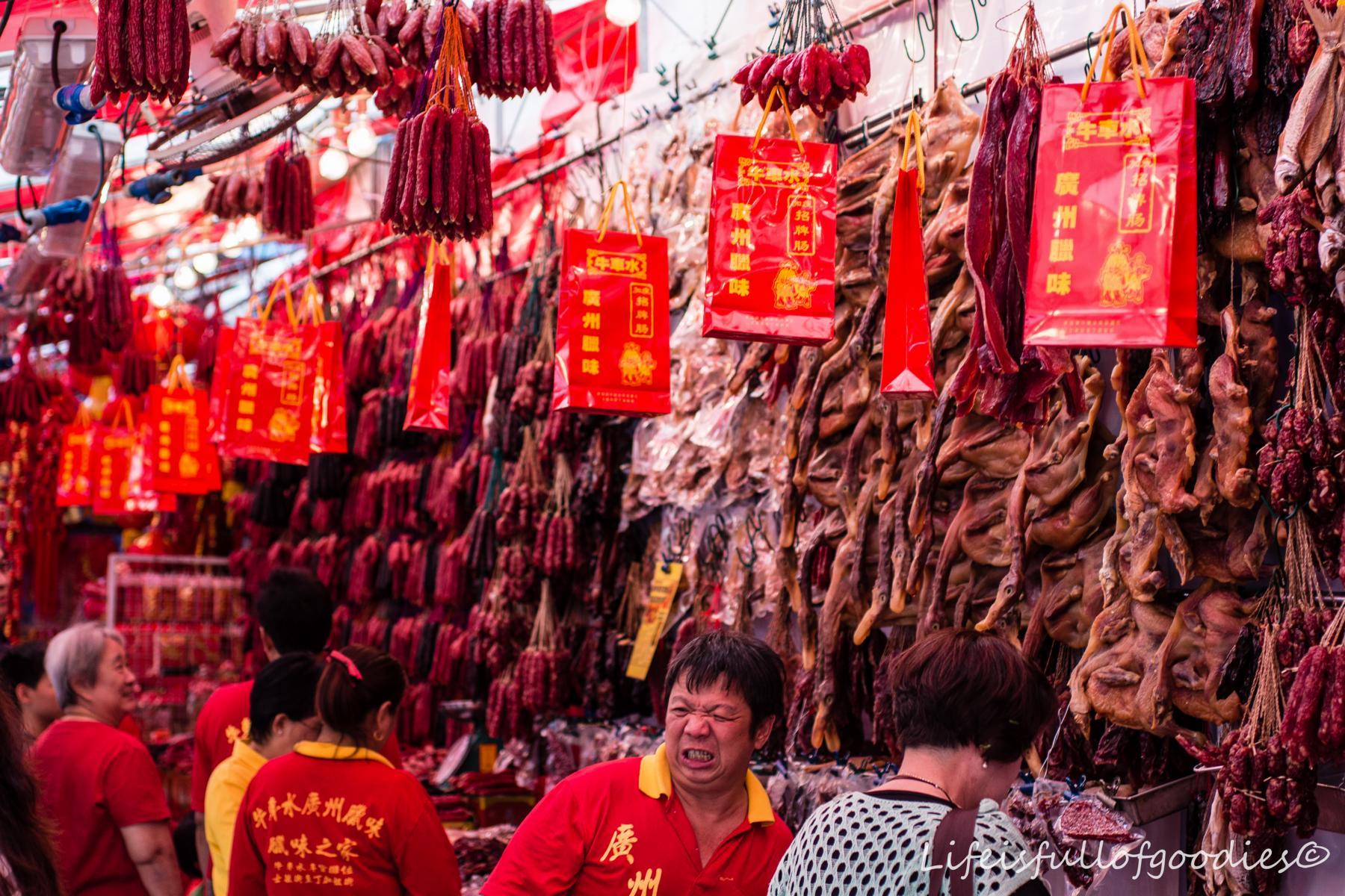 Den Geruch des getrockneten Fleisches muss man ertragen können
