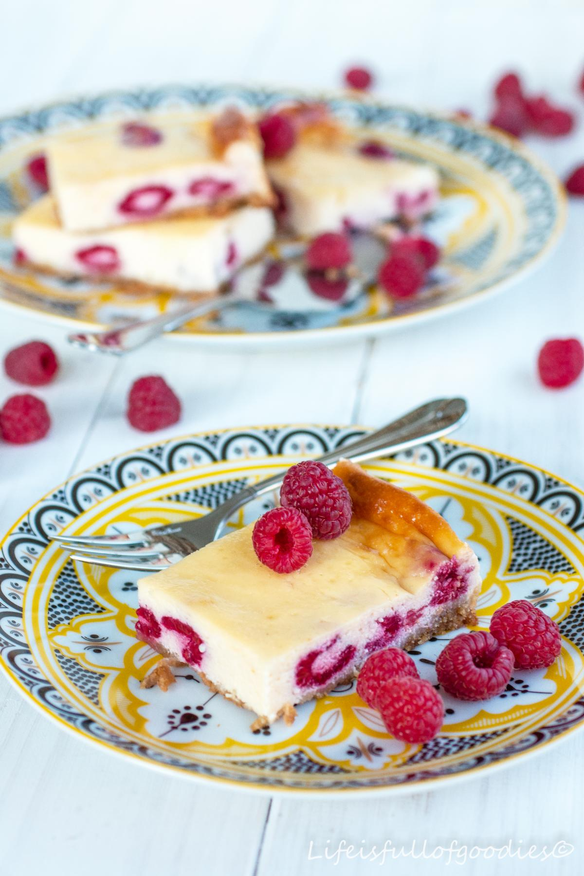 Ricotta Kasekuchen Mit Himbeeren Life Is Full Of Goodies
