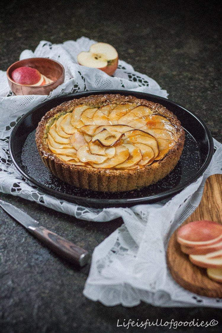 Apfel-Mohn-Tarte