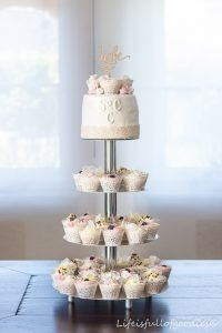Cupcake-Hochzeitstorte