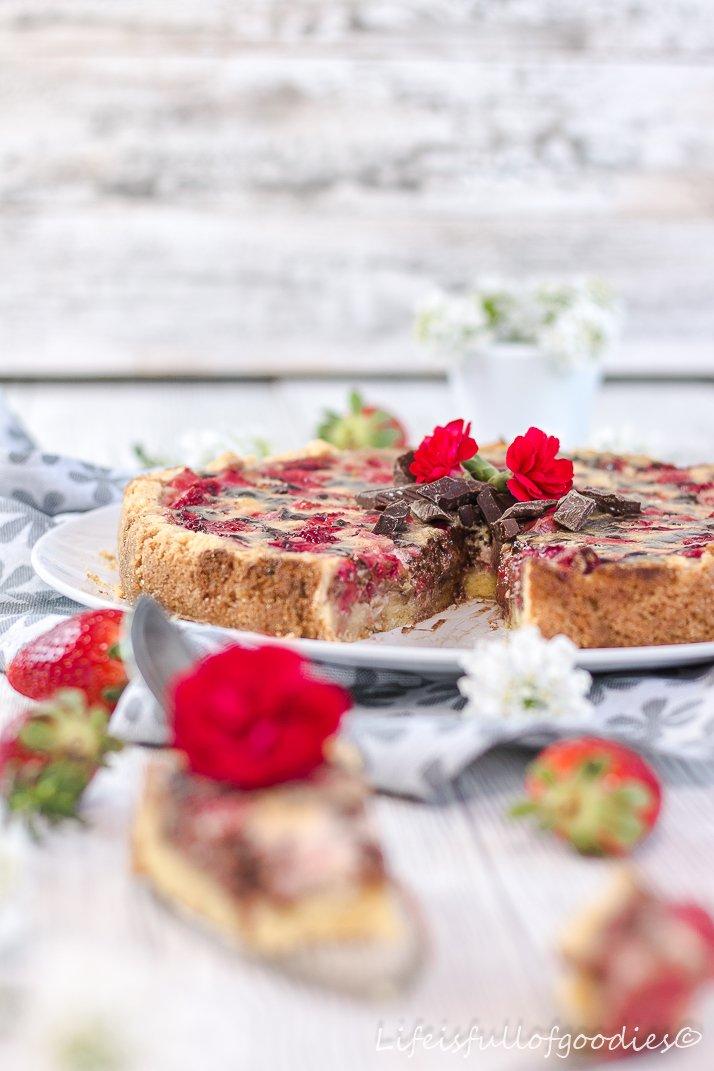 Erdbeer-Schoko-Schmandkuchen