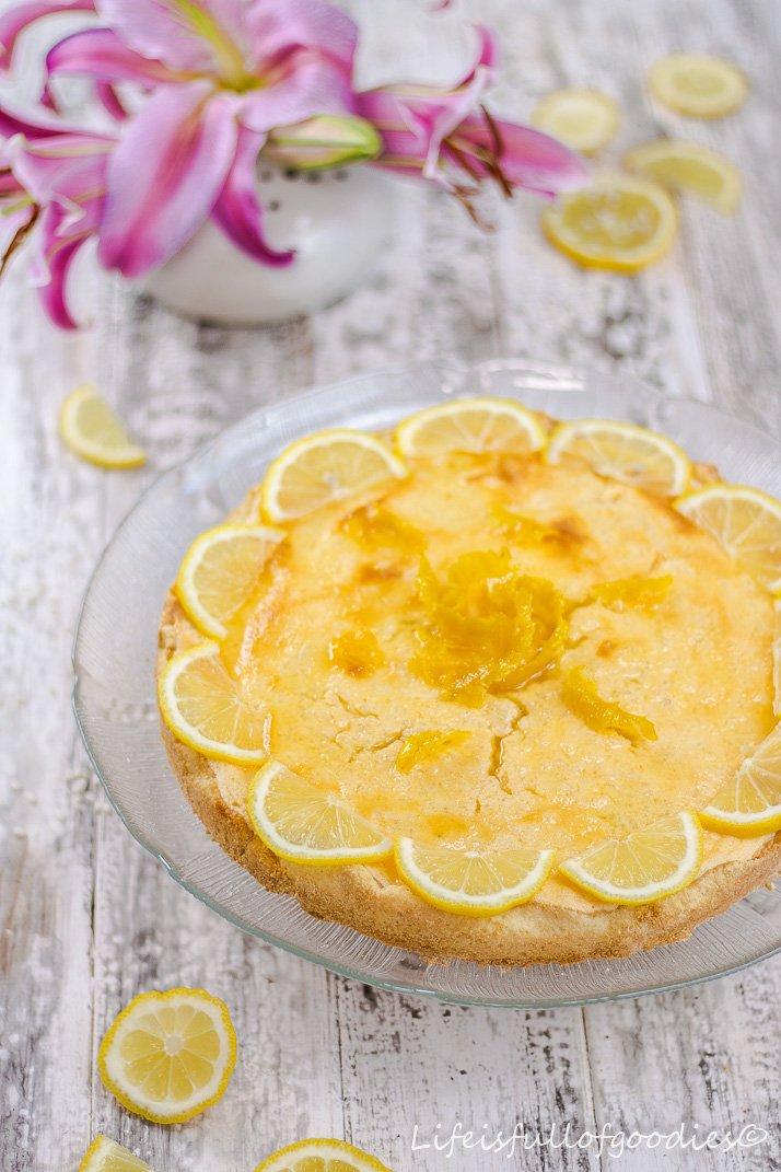 Zitronen-Milchreis-Torte