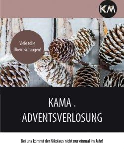 Adventsverlosung auf KAMA! Gewinnt Preise im Wert von insgesamt ca. 1000 Euro!