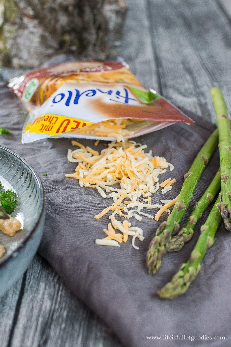 Mac´n Cheese mit grünen Spargelspitzen