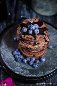 Schoko-Pancakes mit Schokosauce und unser Fotoworkshop