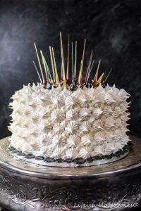 """Meringue-Torte mit """"Zuckerfeuerwerk"""""""