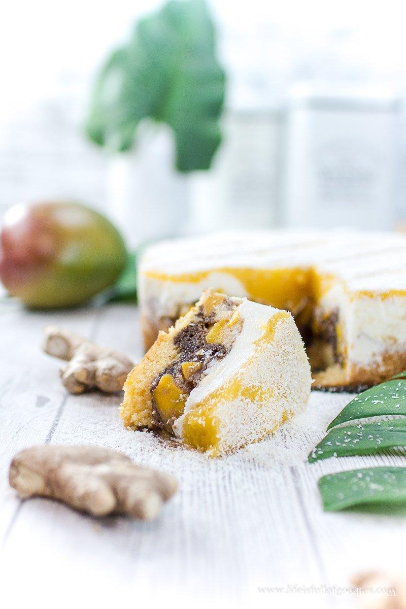 Joghurt-Mangokuchen mit Ingwer