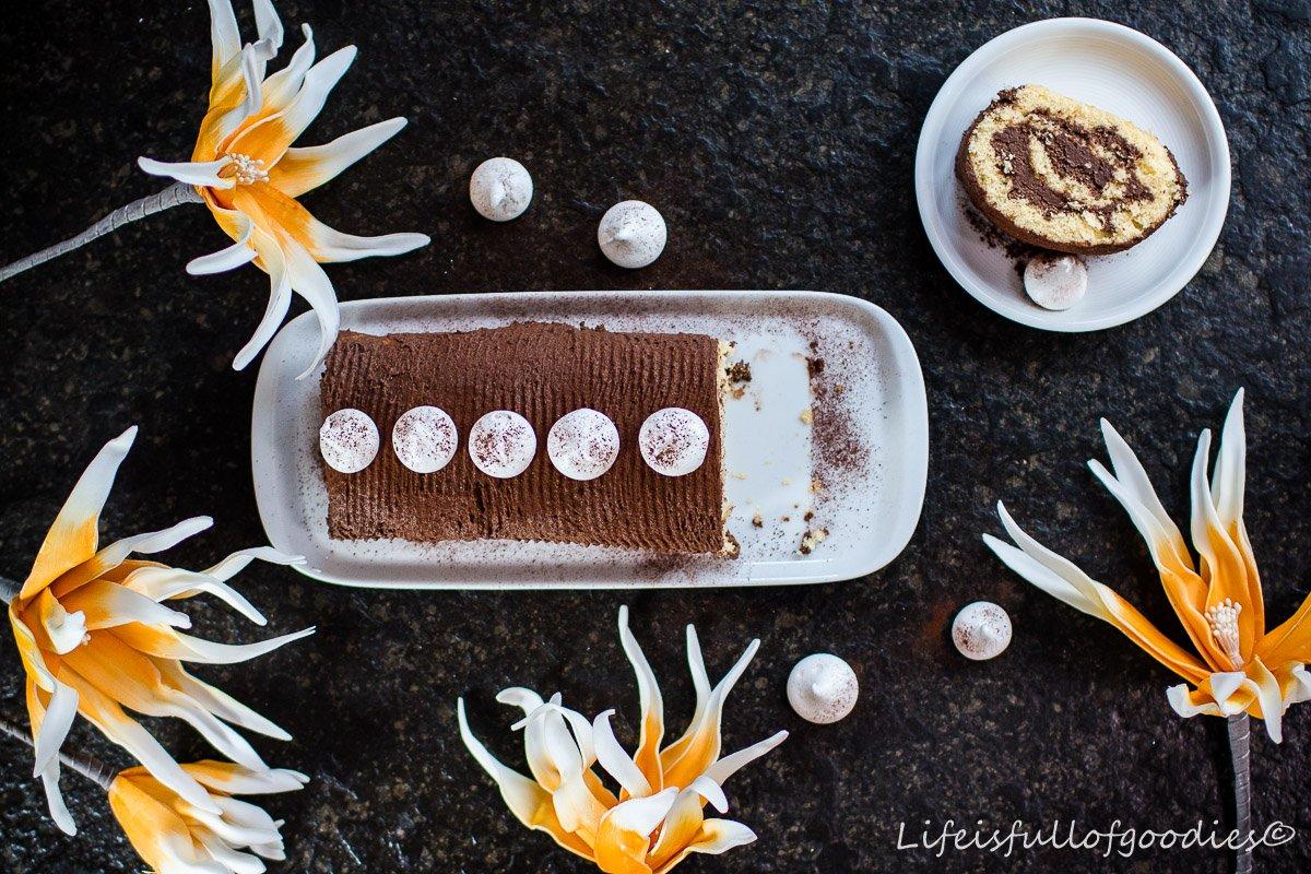 Schokoladen Biskuitrolle