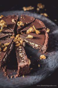 Erdnuss-Karamell-Tarte mit Schokolade – einfach megalecker!