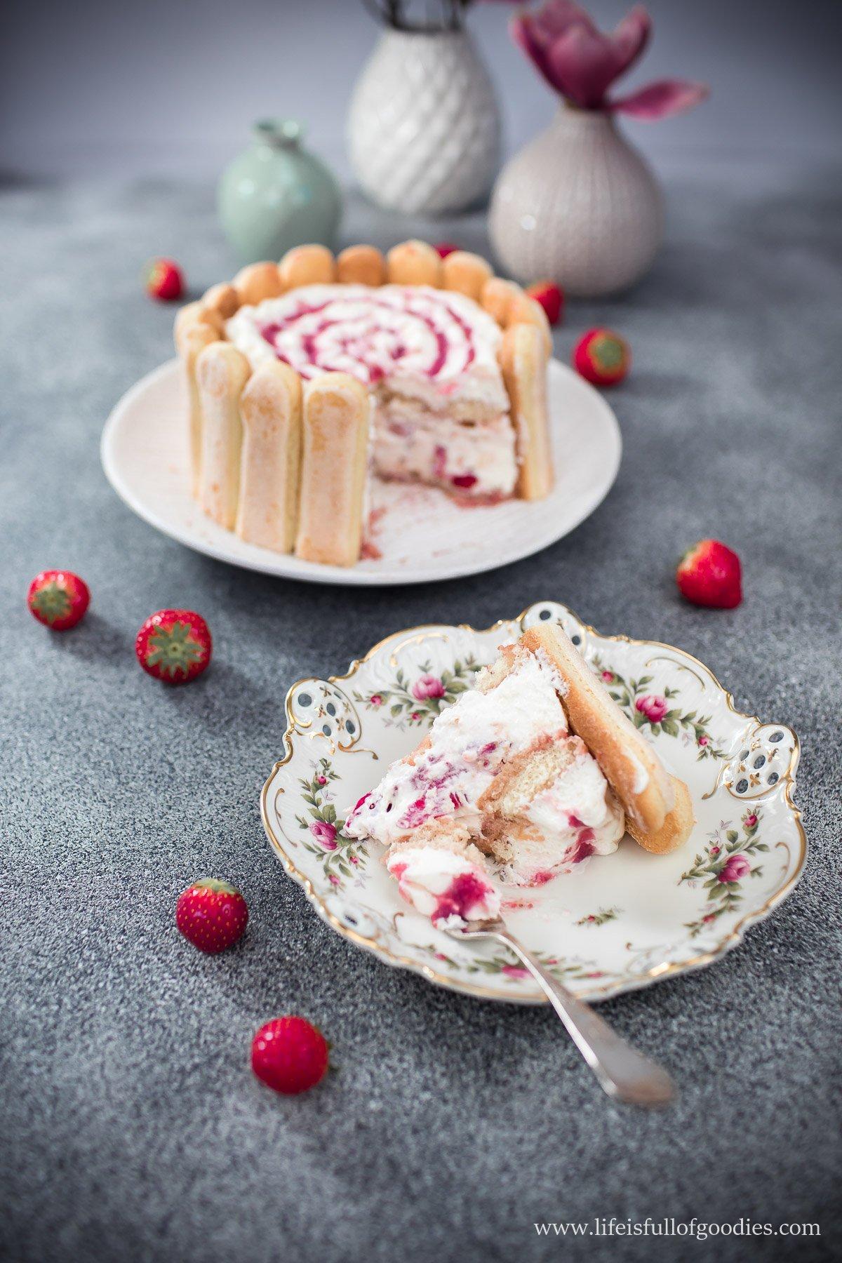 Erdbeertiramisu-Charlotte