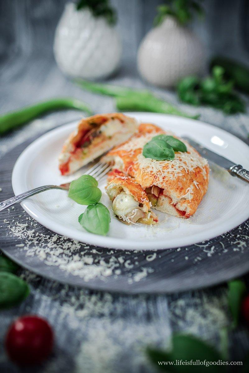 Veggie Calzone vom Grill