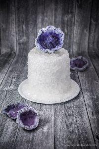 Eine Torte zur Diamanthochzeit – ein Geode Cake