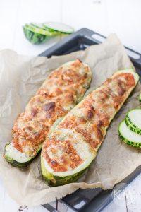 Überbackene Zucchini (vegetarisch)