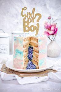 """Ein """"Gender Reveal Cake"""" und warum ich mit dem Bloggen aufhören wollte…"""