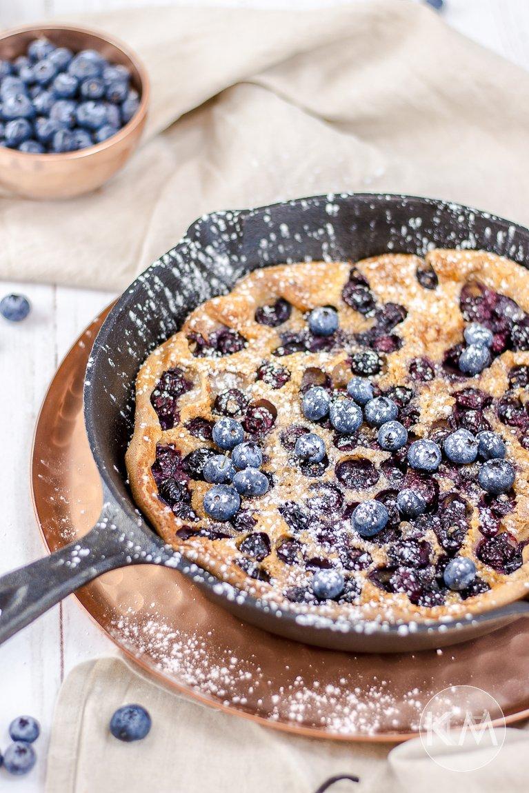 Blueberry Dutch Baby in gesünderer Form