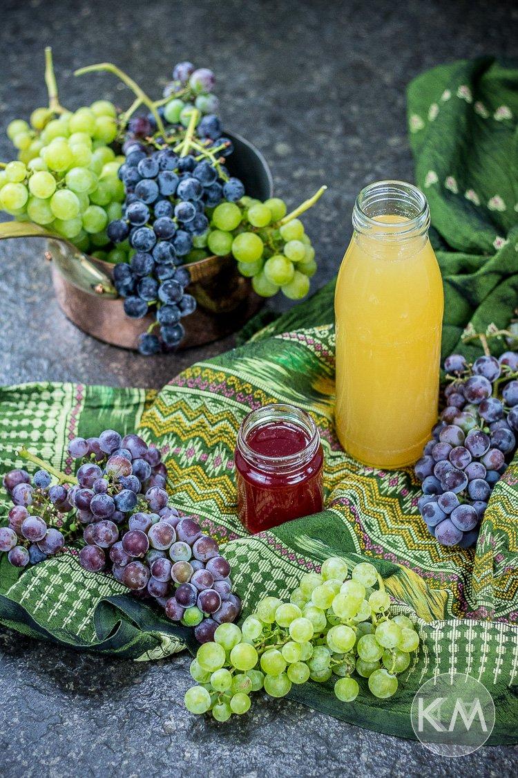 Traubensaft und Traubensirup selbst herstellen