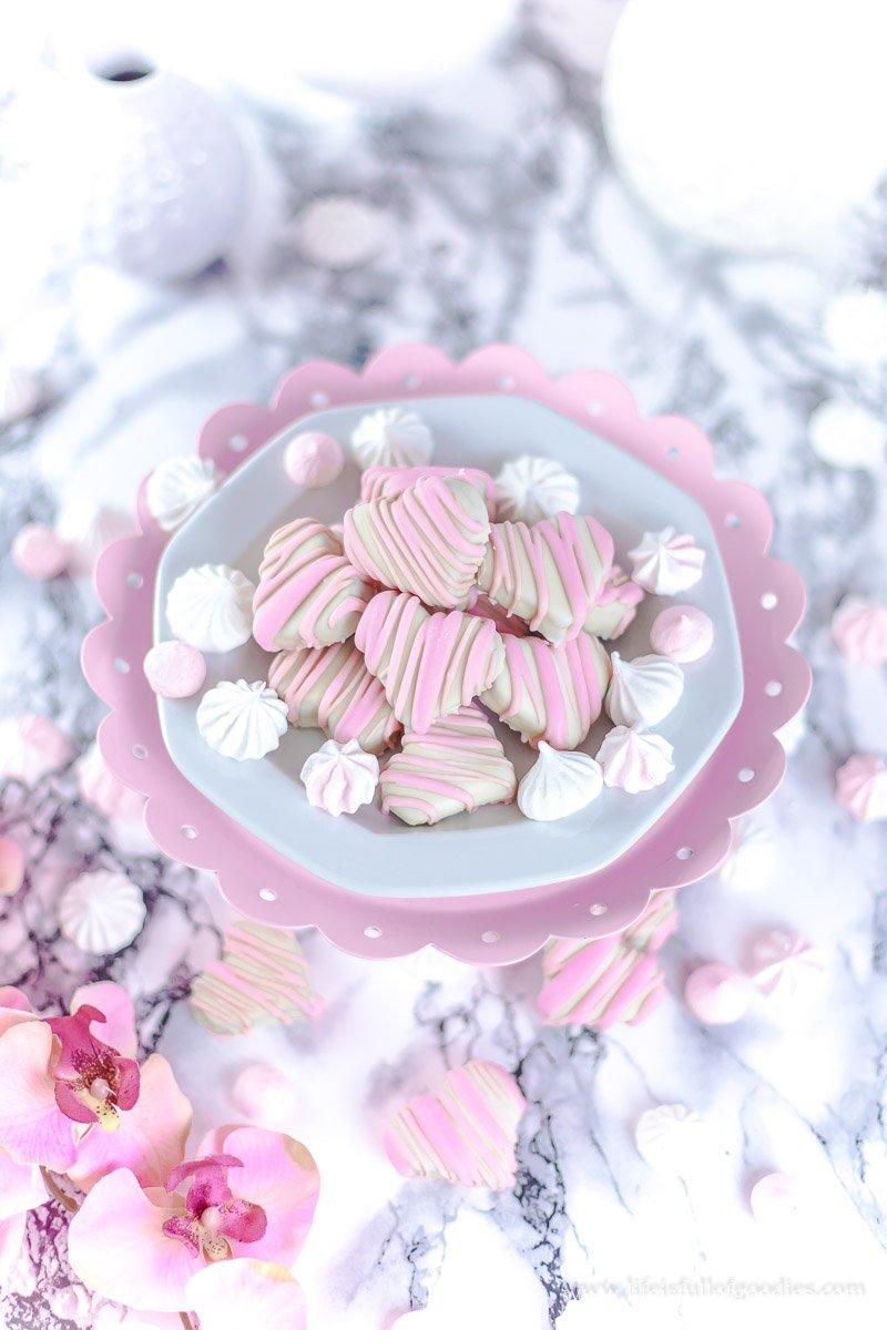 Cookie Dough Herzen zum Valentinstag