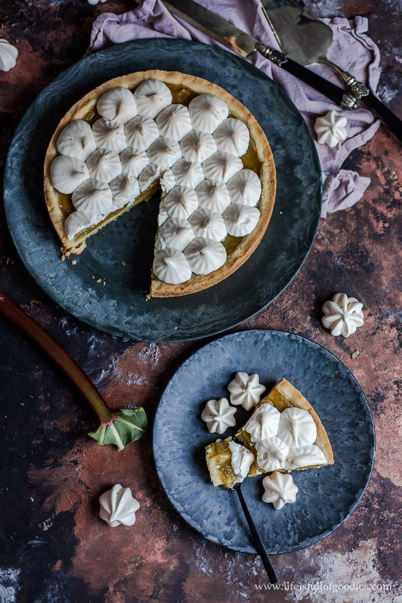Rhabarber Pie mit Baiser