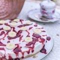KiBa-Cheesecake ohne Backen - Kirsch trifft Banane