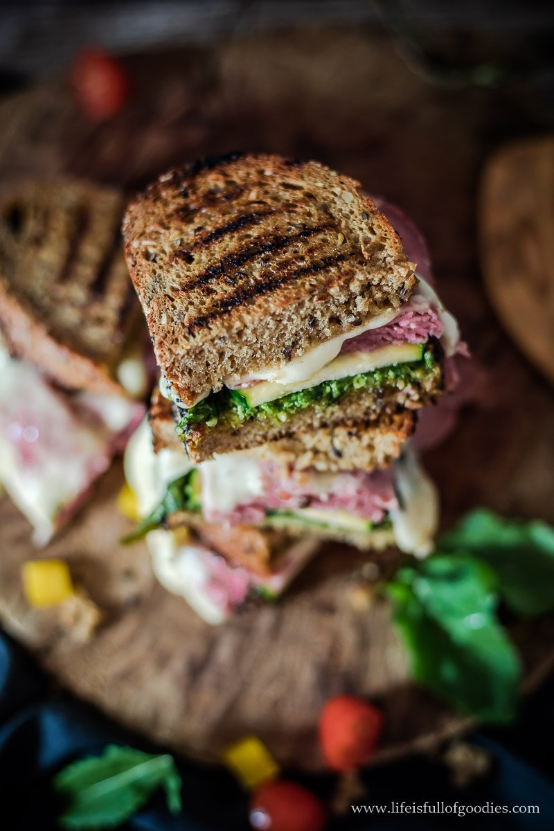 Grilled Salami Cheese Sandwich