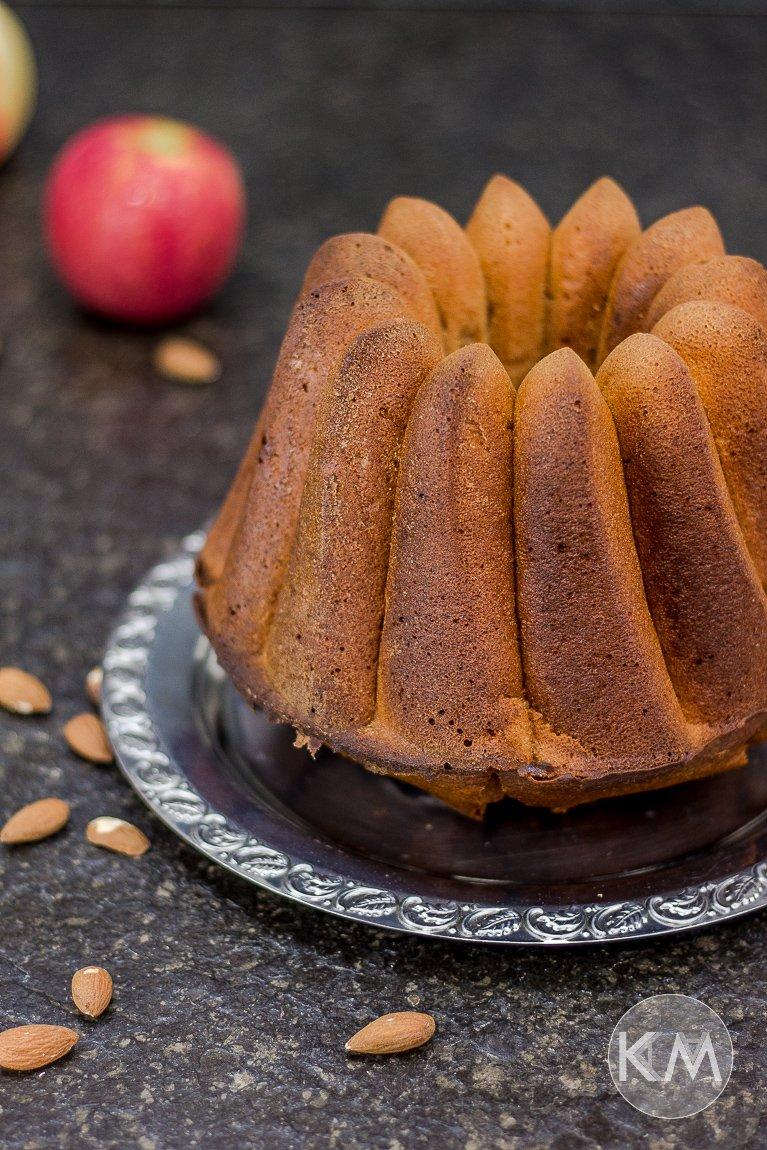 Apfel-Mandelkuchen - saftig und aus gesünderen Zutaten