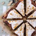 Erdnusskuchen mit Frosting - ohne Weizenmehl, Haushaltszucker und Butter