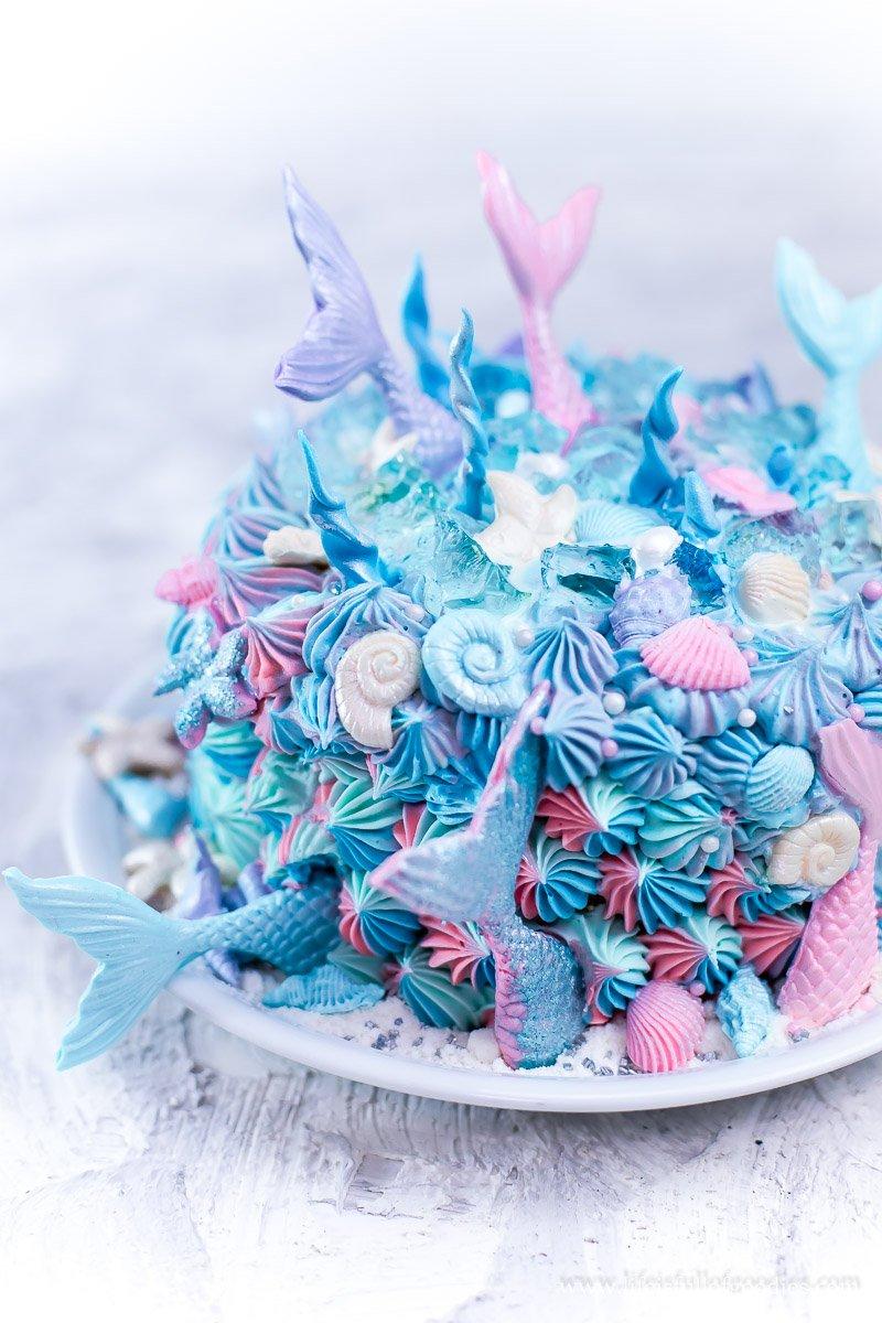 Mermaid Cake für einen 1. Mädelsgeburtstag