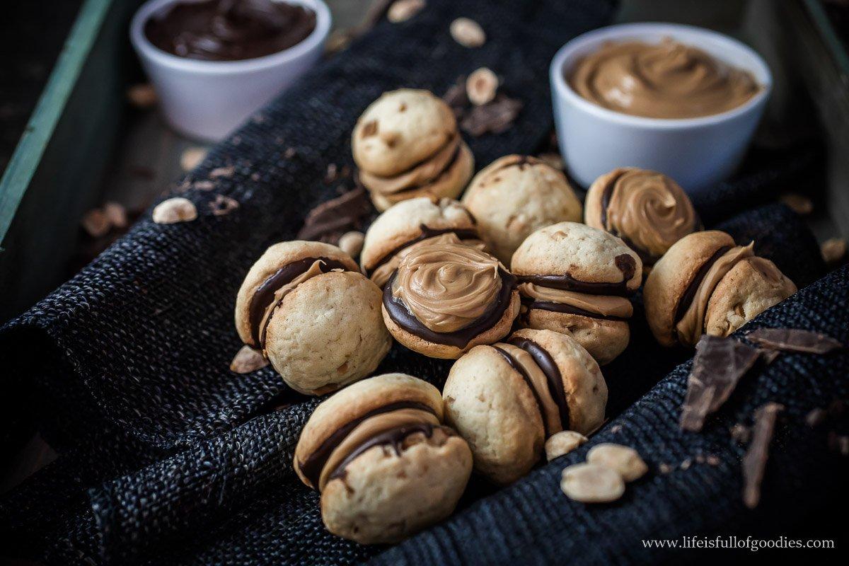 Erdnuss Sandwich Cookies
