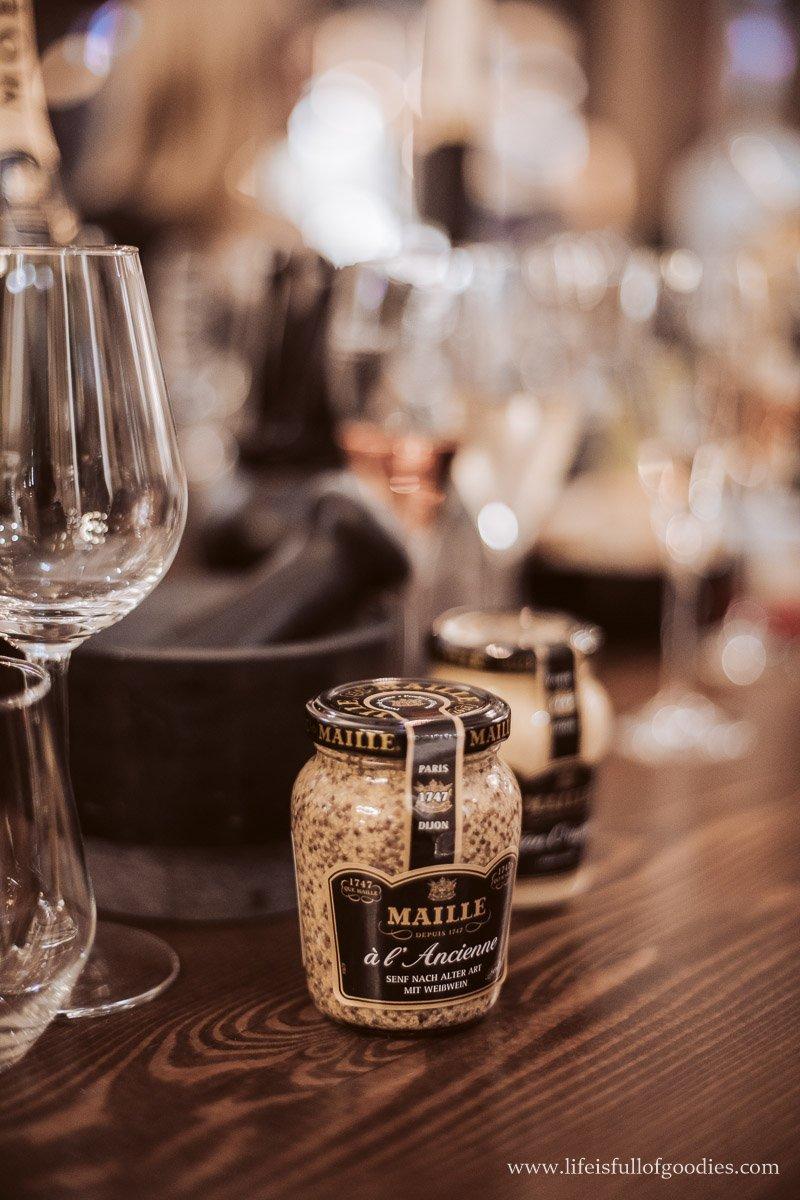 Ein Maille Senf und Moet & Chandon Event