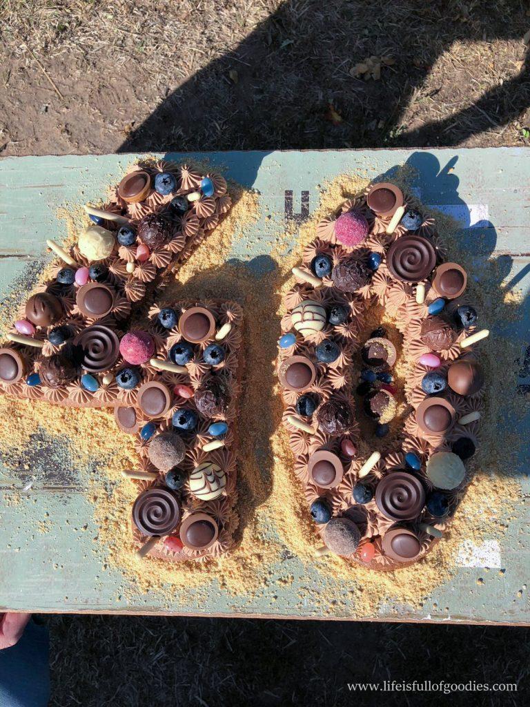 Schoko Number Cake mit Biskuitteig