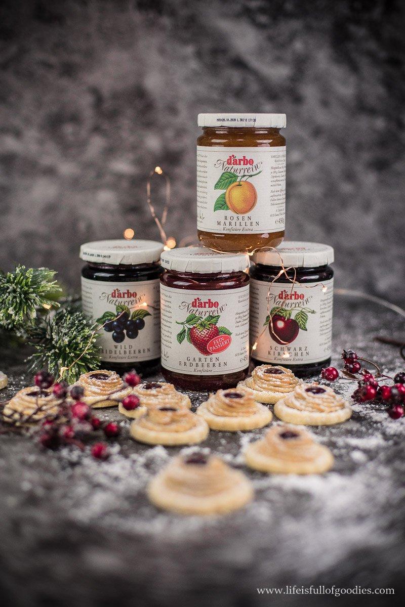 Marzipankringel mit Marmelade