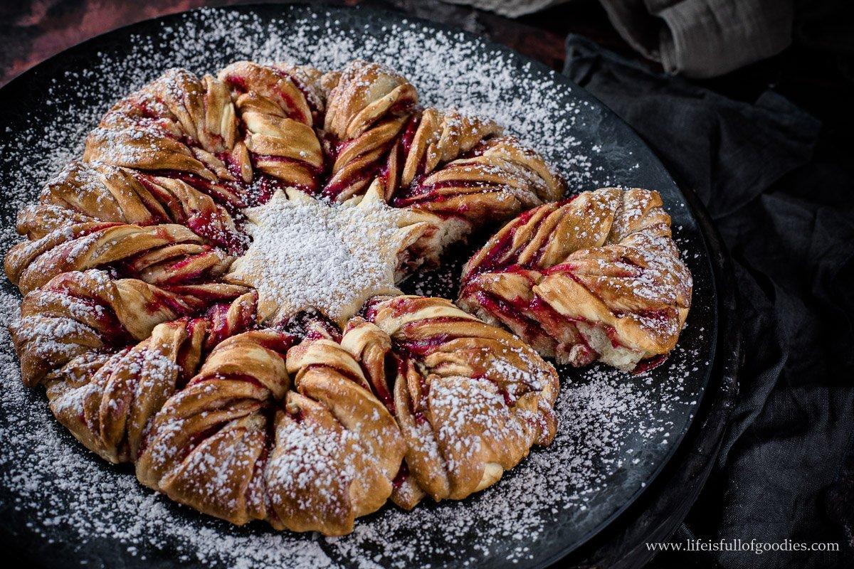 Marmeladensonne - aus fluffigem Kartoffelhefeteig
