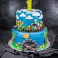 Eine Zug Torte zum 1. Geburtstag