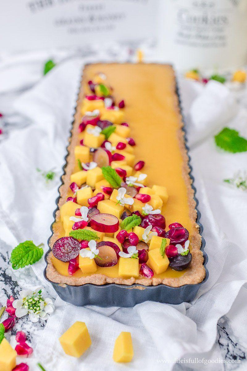 Buttermilch Panna Cotta Tarte mit Mango