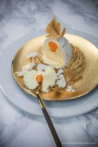 Süßes Osterei Törtchen im Nest