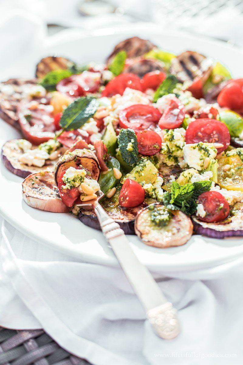 Auberginen Tomaten Salat